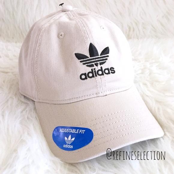 adidas Originals Trefoil Khaki Strapback Dad Hat 5fa8215b0